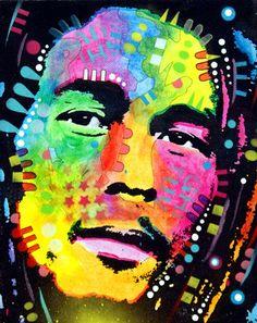 Bob Marley, by Dean Russo Bob Marley Kunst, Bob Marley Art, Jasper Johns, Pop Art, Andy Warhol, Richard Hamilton, Graffiti, Jah Rastafari, Nesta Marley