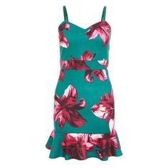 Quiz Ladies Petite Green and Pink Floral Print Frill Hem Dress - Green   Buy Online in South Africa   takealot.com Green Dress, No Frills, South Africa, Floral Prints, Summer Dresses, Lady, Pink, Stuff To Buy, Fashion