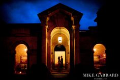 Bride and groom during their evening wedding reception at the Marlborough Room, Blenheim Palace.