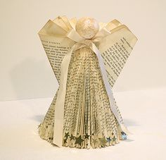 Angel made of a folded book, with tutorial - by HelenTh