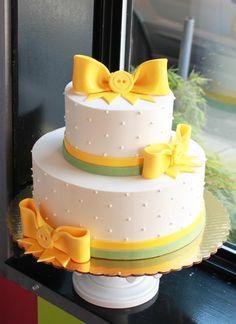 Check out our awesome original baby shower cake designs! Cakes made from scratch by hand in Philadelphia, PA. Amazing Baby Shower Cakes, Baby Shower Cake Designs, 25 Anniversary Cake, Birthday Cake For Mom, Birthday Ideas, Arts Bakery, Bow Baby Shower, Cake Design Inspiration, Mom Cake