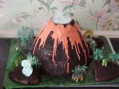 How to Make a Volcano Cake | The Party Site