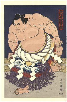THE 'SUMO' UKIYO-E CHIYONOFUJI by Kinoshita Daimon / 大相撲錦絵 第58代横綱 千代の富士 木下大門