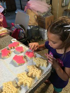 Princess Gianna working and decorating