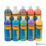 Terrific Tempera Paint Set $21/10 16-oz bottles