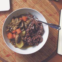 Vegan lentil stew / ig- Jacfruits