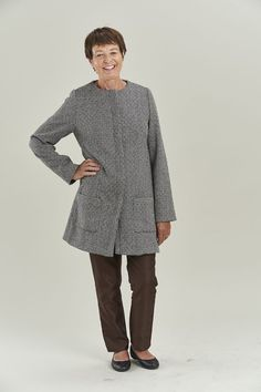The Chloe Coat is a beautifully classic coat with simple details and an exquisite finish - the perfect opportunity to practise some new tailoring techniques Coat Pattern Sewing, Coat Patterns, Sewing Patterns, Fabric Shop, Wool Fabric, Pattern Drafting Tutorials, Sew Over It, Tailoring Techniques, Lining Fabric