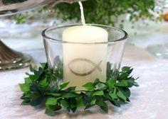 6er Set: Kerze Votivglas Kerzenring Fisch Gold Kom von Zauberdeko auf DaWanda.com
