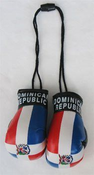 Dominican Republic Flag small Boxing gloves