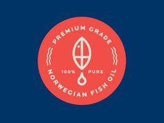 Norwegian Fish Oil logo by Nick Brue