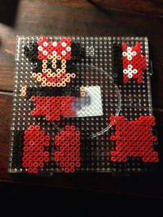 Minnie Mouse box hama perler beads by Dorte Marker