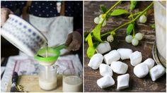 cioccolata bianca collage marshmallows