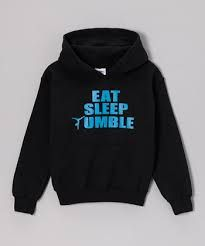 Look at this Peanuts & Monkeys Black 'Eat Sleep Tumble' Hoodie - Girls & Women by Peanuts & Monkeys Toddler Gymnastics, Toddler Sports, Toddler Leotards, Gymnastics Shirts, Gymnastics Outfits, Toddler Girls, Gymnastics Stuff, Gymnastics Equipment, Cheer Mom