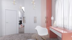 cute pink color for bedroom