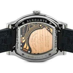 Pre-Owned F.P. Journe Elegante 48 (Elegante) quartz watch, features a 48mm titanium caseback CU