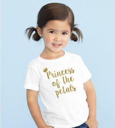 Princess of the petals shirt - Petal Patrol Glitter shirt flower girl tshirt  tee flower girl shirt