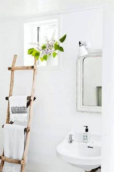 use a ladder for storage