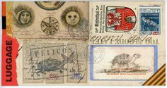 Original Faux mail by Nick Bantock, bestselling Author of 'Griffin and Sabine'. Art Fantaisiste, Art Postal, Going Postal, Collage Techniques, Decorated Envelopes, Envelope Art, Postcard Art, First Day Covers, Writing Paper
