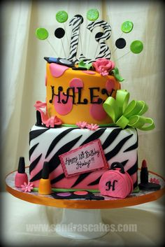 Sandra's Cakes: Fun and Colorful 13th Birthday Cake!