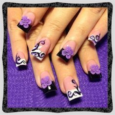Purple swirls by Oli123