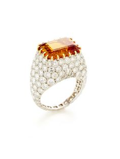 Tiffany & Co. Orange Topaz & Diamond Ring by Tiffany & Co. at Gilt