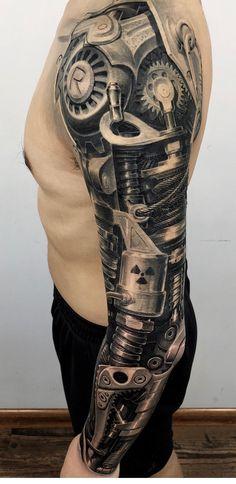 Biomech Tattoo, Biomechanical Tattoo Design, Cyborg Tattoo, Half Sleeve Tattoos For Guys, Hand Tattoos For Guys, Full Sleeve Tattoos, Skull Rose Tattoos, Fake Tattoos, Body Art Tattoos