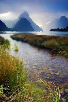 Milford Sounds, New Zealand // Premium Canvas Prints & Posters // www.palaceprints.com