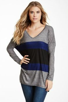 Go Couture V-Neck Slub Tee by Non Specific on @HauteLook