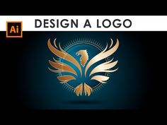 How to Design a Wings Logo - Illustrator Tutorial - YouTube