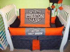 Custom Harley crib bedding set! | Crib sets and baby gear I make ...
