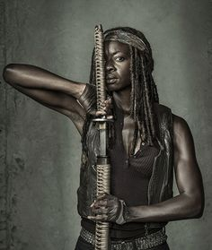 Danai Gurira as Michonne photographed by Dan Winters for Entertainment Weekly