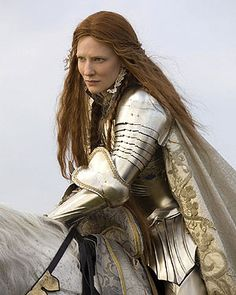 Cate Blanchett as Queen Elizabeth I:  love her!  These ( 1&2 )  are favs because this is my favorite era in history and these are very well made movies! Costumes, scripting and the sets/locations are all incrediable.  And the cast? Fantastic!
