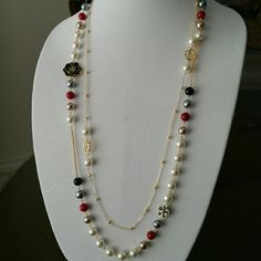 Necklace Long chain Necklace Chanel inspired Beautiful breath-taking cc Necklace. High quality Jewelry Necklaces