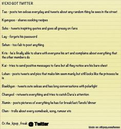 If EXO Got Twitter - Credit to Owner! | allkpop Meme Center