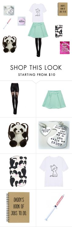 """""""DD/LG School Little #4"""" by mysticlunatic ❤ liked on Polyvore featuring Panda, Glitter Injections and ddlg"""