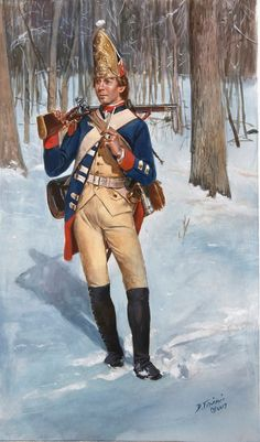A grenadier of the Hessian Rall Regiment as he would have appeared in This was one of the three Hessian regiments defeated at the battle of Trenton. Being actually a garrison grenadier regiment did they not wear mustaches (except for possibly. American Revolutionary War, American Civil War, American History, Independence War, American Independence, Independencia Usa, Battle Of Trenton, Frederick The Great, Military History