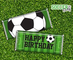 Soccer Party Candy Bar Wrappers Printable Instant by SqweezDesign