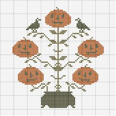 https://flic.kr/p/nPxaT5 | Potted Jacks Freebie | primitivebettys ©2014 67 by 74 stitches Use thread colors of your own selections.  Suggestions are DMC 3021, 610, and 301.