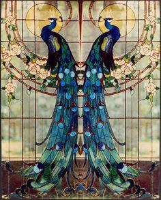 """Beautiful """"Art Nouveau"""" Tiffany Glass"""