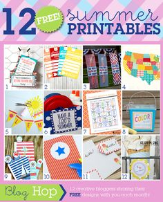 12 FREE summer printables