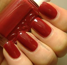 Essie Nail polish in fishnet stockings. This red is so perfect I ventured out and put it on my nails too! Perfect! It's so hard to find reds that look good with my skin tone.