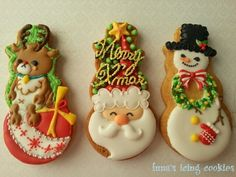"I want to be a good gift ☆ ...... icing cookies |!! ""Christmas Cookies ☆""…"