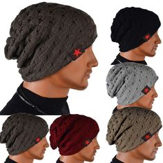 Invierno reversible beanie sombrero de hombre para mujer sombreros, nieve gorros tejidos skull chunky baggy caliente skullies, touca gorro, CfW
