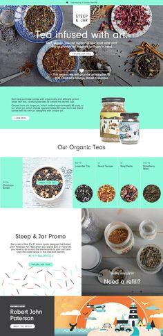 Full CSS Web Design Inspiration - Steep & Jar