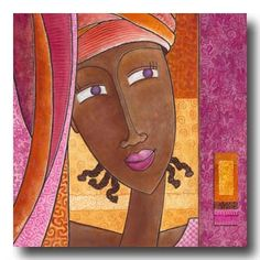 BANDIZIOL Géraldine Art Latino, Art Fantaisiste, Afrique Art, Art Carte, Tribal African, Art Premier, Open Art, Abstract Portrait, Pattern Illustration