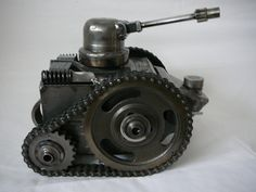 Tank Welding Projects, Projects To Try, Robot Samurai, Blacksmithing, Artsy Fartsy, Project Ideas, Tanks, Creativity, War