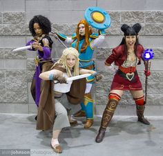 Spinning Yarn | Rat Queens cosplay | Dee, Betty, Violet, and Hannah