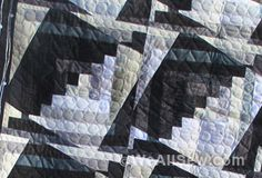 """Use this simple tip to make log cabin quilting blocks """"dance"""" in your quilt! #LogCabin #Quilting"""