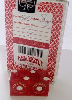 Fremont Casino casino used playing cards & 1 pair Dice 1 deck  Las Vegas gaming