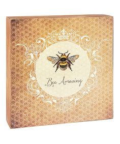 Take a look at this 'Bee Amazing' Wall Décor today!